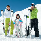 Sporty family Royalty Free Stock Photo