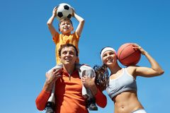 Sporty family Stock Photography