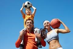 Sporty family Stock Photography