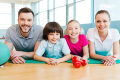 Sporty family. Royalty Free Stock Image
