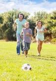 Sporty family of three Stock Photo