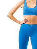 Sporty female torso Royalty Free Stock Images