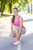 Sporty Fit Healthy Young Woman Outdoor Stock Photography