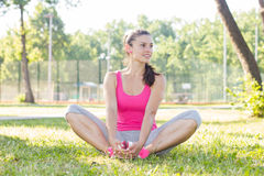 Sporty Fit Healthy Young Woman Outdoor Royalty Free Stock Photo