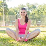 Sporty Fit Healthy Young Woman Outdoor Royalty Free Stock Image