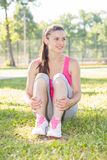 Sporty Fit Healthy Young Woman Outdoor Stock Photo