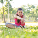 Sporty Fit Healthy Young Woman Outdoor Stock Image