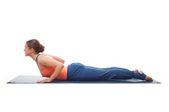 Sporty fit yogini woman practices yoga asana Royalty Free Stock Photos