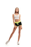 Sporty fitness woman full length Royalty Free Stock Images
