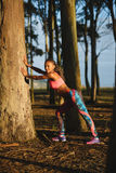 Sporty fitness woman on outdoor healthy workout Stock Image