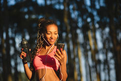 Sporty fitness woman on outdoor healthy workout Stock Photos