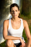 Sporty fitness woman portrait Royalty Free Stock Photos