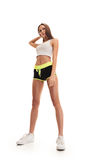 Sporty fitness woman. shot from down Royalty Free Stock Images