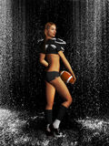 Sporty Football Girl Stock Images