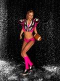 Sporty Football Girl Royalty Free Stock Photos