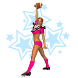 Sporty Football Girl Royalty Free Stock Photography