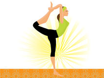 Sporty girl. Practicing natarajasana lord of the dance pose Royalty Free Stock Images