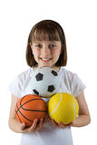 Sporty Girl Stock Photography