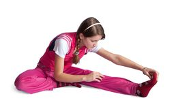 Sporty girl doing aerobics Stock Images