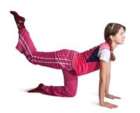 Sporty girl doing aerobics Stock Photography