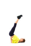 Sporty girl doing stretching exercises Royalty Free Stock Images