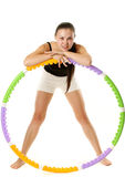 Sporty Girl and Hula Hoop Royalty Free Stock Photo