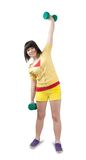 Sporty girl in sportswear Royalty Free Stock Photography