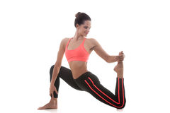 Sporty girl stretching Royalty Free Stock Photo