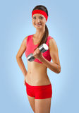 A sporty girl training Royalty Free Stock Image