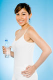 Sporty Girl With Water Stock Photo