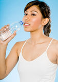 Sporty Girl With Water Stock Photos