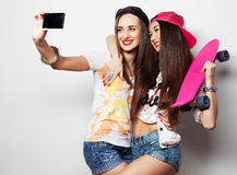 Sporty girlfriends having fun together Stock Photo