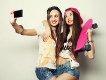 Sporty girlfriends having fun together Royalty Free Stock Photography