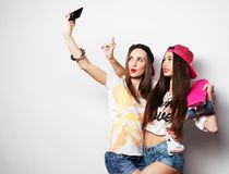 Sporty girlfriends having fun together Royalty Free Stock Image