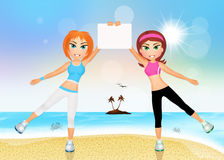 Sporty girls Stock Image