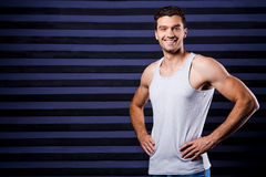 Sporty and handsome. Royalty Free Stock Photo