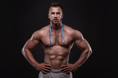 Sporty and healthy muscular man Stock Photo