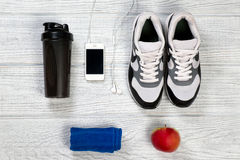 Sporty i sprawności fizycznej tło dla mężczyzna Fotografia Stock