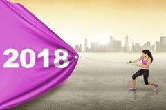 Sporty kobiety ciągnięcie liczy 2018 Obraz Royalty Free