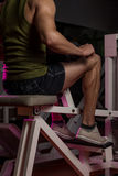 Sporty Legs Calf Stock Image
