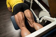 Sporty Legs Hamstrings Stock Photography