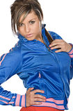 Sporty Looking Attractive Brunette Royalty Free Stock Photos