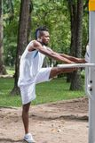 Sporty man Stock Photo