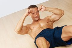 Sporty man with perfect body Stock Photography
