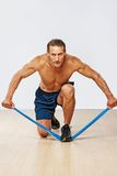 Sporty man with perfect body Stock Images