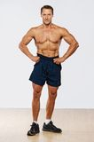 Sporty man with perfect body Royalty Free Stock Photography