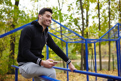 Sporty Man Taking Break During Training Royalty Free Stock Photography