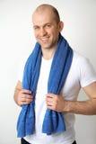 Sporty man with towel Stock Photos