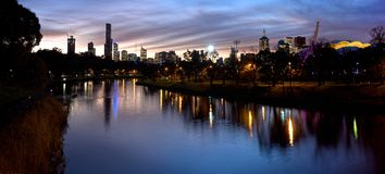 Sporty melbourne at night Royalty Free Stock Photos