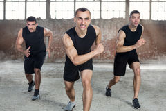 Sporty men on training Royalty Free Stock Photography